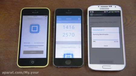 گروه طراحی وب سایت:Test speed iphone 5s vs galaxy s4 vs iphone 5c