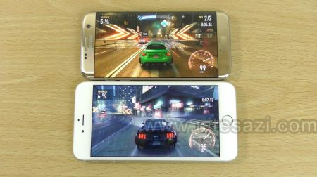 گروه طراحی وب سایت:Samsung Galaxy S7 Edge vs iPhone 6S Plus - Gaming Comparison!